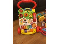 Vtech first steps baby walker, complete and working