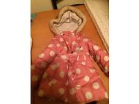 Girls Minnie Mouse winter coat