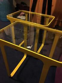 Office Glass Coffee Table (YELLOW)