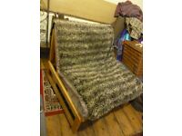 SOLID ASH COMFY CHAIR, STYLISH HABITAT, CONVERT TO BED