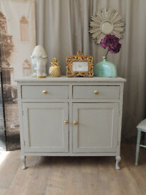 Lovely Edwardian shabby chic sideboard