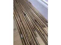Brass carpet rods and fixings