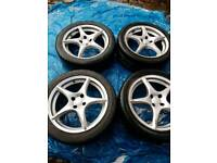17 inch vw polo mini corsa astra 4stud 4x100 alloys