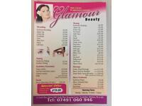 Glamour beauty Eyebrow threading 23 csatel place shopping centre trowbridge market hall ba14 8al