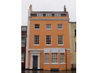 Superb, self-contained, 3-room, 675 sq ft top floor office space in Grade II listed building