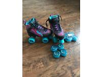 Reduced Rio leopard Roller Skates with New light up wheels