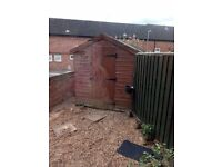 Large shed for sale £100. Sold subject to collection