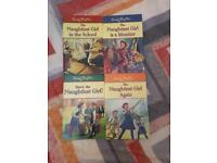 Collection of Naughtiest School Girl books by Enid Blyton