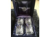 Set if 4 Stuart crystal glasses brand new