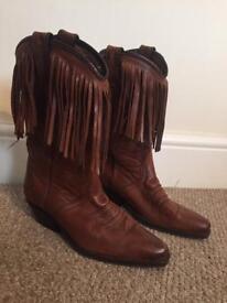 Sanchez Cow Boy Boots Size 5