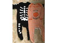 Two baby Halloween outfits size 9-12 months