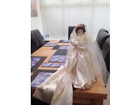 Porcelain Doll - Elizabeth 1900s Wedding Dress by The Ashton-Drake Galleries. Never out box.