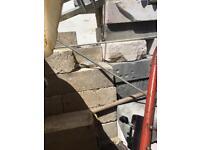 Mix of concrete blocks, thermolite blocks and bricks