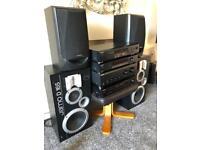 Sony hifi separates technics and jamo speakers
