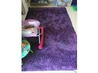 Extra large purple shaggy rug