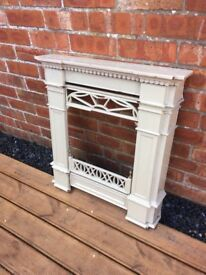 Stunning Art Deco Enameled Cast Iron Fireplace- can deliver
