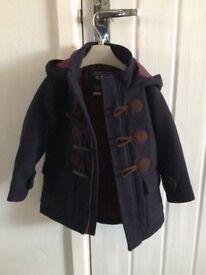Next, Navy Blue Duffle Coat 12-18 Months
