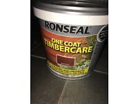 Red Cedar Ronseal fence paint