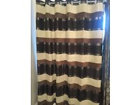 One pair of fully-lined curtains, with eyelets, in excellent condition, only a few years old