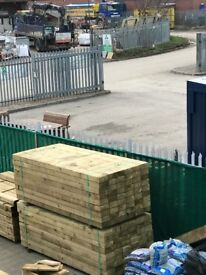 King of garden sleepers - railway sleepers - local deliver - premium quality timber-tanalised