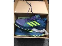 Adidas Lux Hockey Shoes - Blue/Yellow (Size 10) - New Unopened Condition