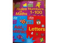 NEW X 4 LETTS MATHS & ENGLISH ACTIVITY BOOKS AGES 4-5 & 6-7