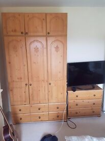 one wardrobe and two bedside cabinets in great condition!!!!!