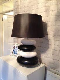 Black and white modern lamp