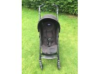 Chicco Liteway Pushchair Stroller Black Footmuff, Raincover Great Condition