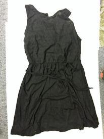 Ladies Black Dress With Crochey Detail