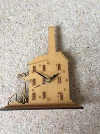 Wooden Tin Mine Clock
