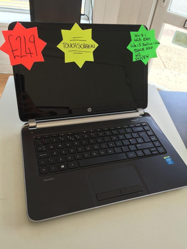 Hp Touchscreen Laptop 4gb Ram 500gb I3 Processor