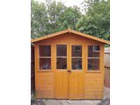6'7 x 5'5 Wooden Shire Haddon Summerhouse (2.01x1.64m)