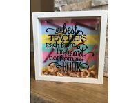 Handmade best teacher frame