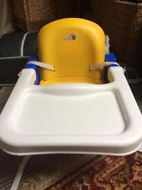 Highchair booster seat and table