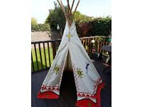 Wigwam Teepee Play tent 100% cotton Canvas Children's
