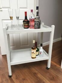 Upcycled wooden tea drinks trolley for lounge,kitchen,study,bedside or studio