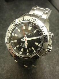 SEIKO KINETIC Divers watch 200m 5M62-ODJ8 great condition