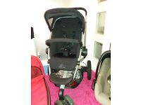 Quinny Buzz travel system Car seat Stroller Carrycot Black Red