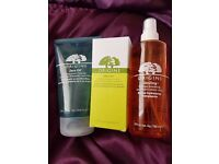 Origins zero oil face wash, zero oil moisture lotion and energising facial spritz