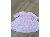 Next Baby girl long sleeved dress up to 1month