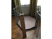 Lindam playpen grey, with wall fixing kit