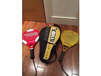 2 padel rackets