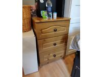 Double wardrobe with 3 drawers,chest of 4,3 bedside cabinet.Collection only. Message for dimensions.