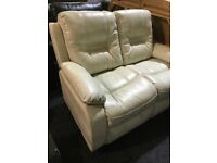 New leather two seater sofa-cream color