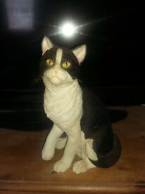 Lovely black and white cat ornament for sale