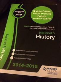 SQA National 5 History Past Paper Book