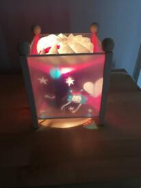 Beautiful fairy and stars rotating bedside lamp