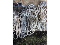 Lengths of rope for boats or yachts