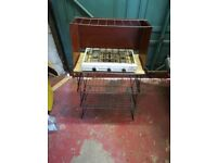 Vintage camping kitchen and double hob/burner